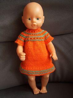 ♥ Puppenkleid (B) für 42 cm Puppe + Puppenkleidung + Strickkleid + gestrickt ♥ | eBay