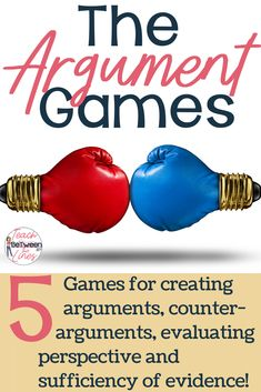 5 collaborative and engaging games to practice with critical argument analysis and argument writing skills. Argumentative Writing, Persuasive Writing, Writing Rubrics, Paragraph Writing, Opinion Writing, Essay Writing, Writing Strategies, Writing Skills, Writing Lessons