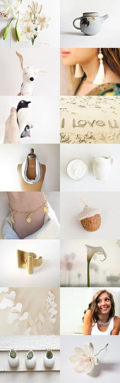 Shades of white  by Yael Berger on Etsy--fresh romantic shades of white summer