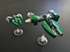 Loroi Battlecruiser and Destroyer micros by shrakner, via Flickr