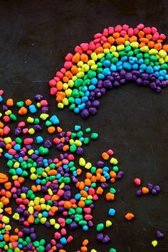 rainbow of candies