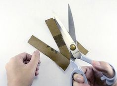 Did you know you can sharpen your household scissors with it?? Check out the post for 21 other ways to use sandpaper!
