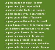 Très beau Ap French, Plus Belle Citation, Quote Citation, Les Sentiments, French Lessons, Quotations, Affirmations, Image Search, Lyrics