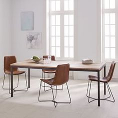 Anderson Solid Wood Dining Table - Carob