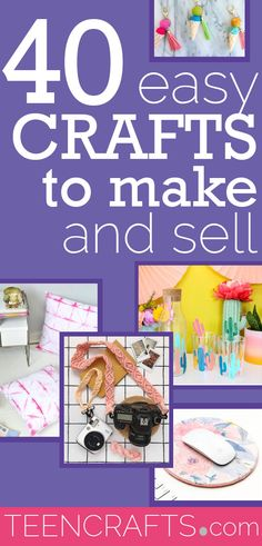 Easy Crafts to Make and Sell - Cheap DIY Craft Ideas to Sell for Money - Cool Teen Crafts on a budget #teencrafts Teen Crafts, Easy Diy Crafts, Crafts For Teens, Diy Messenger Bag, Diy Earrings Making, Crafts To Make And Sell, Dollar Store Crafts, Fun To Be One