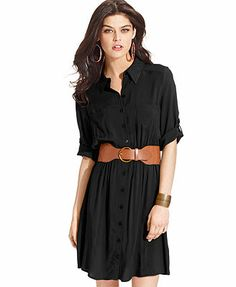 I like this shirt dress style.  Can be dressed up or casual.