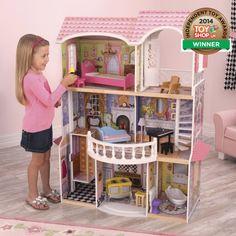 Da werden Mädchenträume wahr! In das wunderschöne Puppenhaus von Kidkraft wollen wir am liebsten selbst einziehen