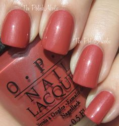 OPI: Schnapps Out Of It! (is a rosy terra cotta kind of shade). I hope I can find this shade at my salon.