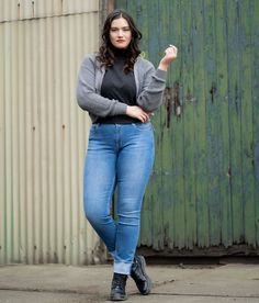 All Jeans, Plus Size Jeans, Drawing Poses, Strike A Pose, Doberman, Long Legs, Pose Reference, Diversity, Hair Inspiration