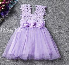 Lavanda de encaje vestido vestido de niña de por PerfectlyPoshCo
