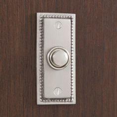 Beaded Rectangular Doorbell