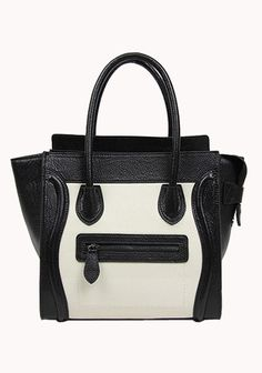 Vanessa Medium Tote In Leather Black And White
