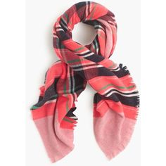 J.Crew Fireside Plaid Scarf ($72) ❤ liked on Polyvore featuring accessories, scarves, j.crew, tartan plaid scarves, tartan shawl, plaid shawl и j crew scarves