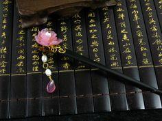 Xunxu Vintage Classical Handmade OX Bone Hair Stick Vintage Hanfu Hair Accessory Hair Jewelry