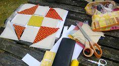 Helene Juul Design http://helenejuuldesign.blogspot.dk/ Pennsylvania Shoo Fly blok undervejs