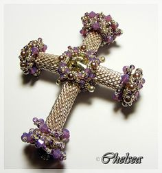Cross pendant bead twin or superduo scheme free instructions chelseaspearls anhnger beaded crosschristian aloadofball Choice Image