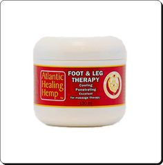 FOOT & LEG THERAPY: Hemp Foot and Leg Therapy  Relaxing, rejuvenating, cooling foot therapy. Sit back, feet-first and relax after a long day at work. This gives relief for hot tired feet and legs. Helps relieve restless-leg syndrome. Sciatic Nerve pain, Lower back pain may be relieved due to the cooling effect on the nerves. Customers tell us they finally get a good night's sleep after applying Foot and Leg Therapy to legs and feet before bedtime.