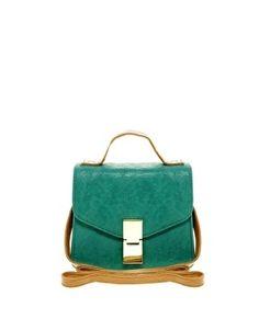 ASOS | ASOS Contrast Handle Flat Lock Cross Body Bag at ASOS - StyleSays