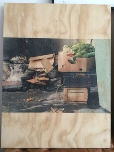 Serie bordes , fotografía sobre madera Carolina Oltra