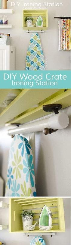 Picture this project in your kitchen, or laundry room! LOVE this iron holder, and the step by step tutorial.