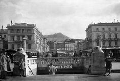 Patision street Bauhaus, Old Photos, Vintage Photos, Athens Greece, Neoclassical, Public Transport, The Past, Louvre, Street View