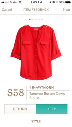 41Hawthorn Tameron button down blouse. I love Stitch Fix! A personalized styling service and it's amazing!! Simply fill out a style profile with sizing and preferences. Then your very own stylist selects 5 pieces to send to you to try out at home. Keep what you love and return what you don't. Only a $20 fee which is also applied to anything you keep. Plus, if you keep all 5 pieces you get 25% off! Free shipping both ways. Schedule your first fix using the link below! #stitchfix @stitchfix…