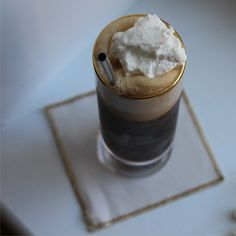 A New England answer to Irish Coffee. This cold brew coffee cocktail is the perfect brunch booze! #CravingBoston