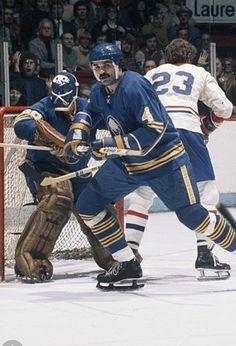 Jerry Korab #4 Buffalo Hockey, Buffalo Sabres, Goalie Mask, Good Old Times, Nfl Fans, Racquet Sports, Detroit Red Wings, Chicago Blackhawks, Ice Hockey