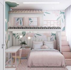 Kids Bedroom Designs, Home Room Design, Kids Room Design, Home Bedroom, Bedroom Decor, Girls Bedroom, Minimalist Home Interior, Luxurious Bedrooms, Luxury Bedrooms