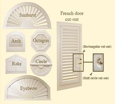 green louvered arched shutters - Google Search