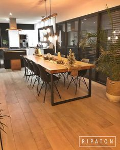 Atelier Ripaton-Hairpin Legs-www. Decor, Kitchen Design Small, Interior, Elegant Homes, Dining Table, Home Decor, House Interior, Home And Living, Kitchen Design