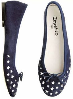 Repetto flats with stars.