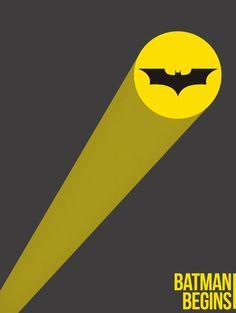 batman begins minimal poster by gule3008 (print image)