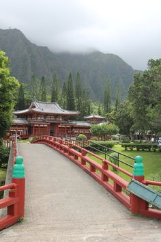 Byodo - In - Temple  Ko'olau mountain range   Oahu , Hawaii    Good staycation for me... I always feed the koi & ring the bell!