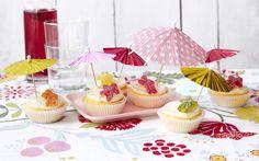 Muffins til sommerfesten Mini Muffins, Mini Cupcakes, Baking, Desserts, Food, Tailgate Desserts, Deserts, Bakken, Meals
