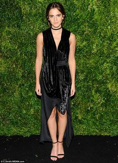 British beauty:Emma Watson  attended the 2016 Museum Of Modern Art Film Benefit - A Tribute To Tom Hanks in New York on Tuesday