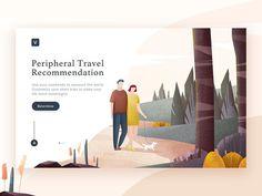 Illustration Page by @lmmiiiii #dribbblers #illustration #ui #design