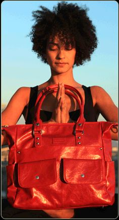 Namaste Harlow Bag-Red was originally designed as a knitting bag.  the uses for this bag are endless.  Luv this new red