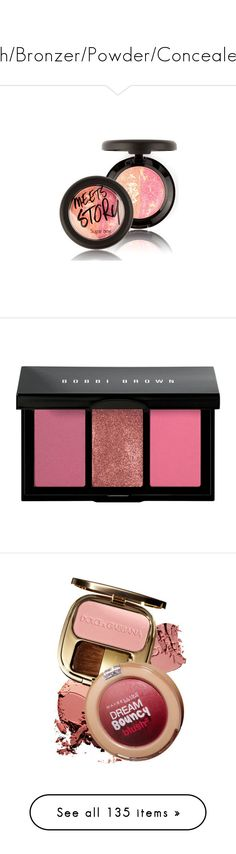 """""""#Blush/Bronzer/Powder/Concealer0.1"""" by juromi ❤ liked on Polyvore featuring beauty products, makeup, cheek makeup, blush, powder blush, beauty, face makeup, pink, bobbi brown cosmetics and highlight makeup"""