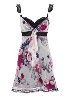 I have a thing for florals. Karen Millen Floral Print Dress Multicolor
