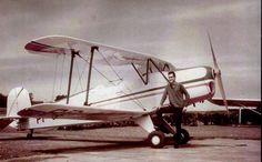 Eu Nilson e o Bucker Jungmann, , voei este avião por mais de 10 anos