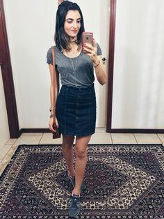 Saia jeans /@aliciasampaio