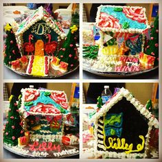 Turn your gingerbread house into your own lilly palace #lillyholiday