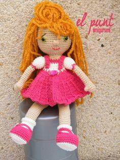 Amigurumi muñeca Paula https://www.facebook.com/elpuntamigurumis