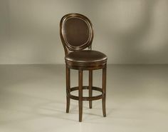 "Pastel Furniture Naples Bay 30"" Barstool in Distressed Cherry Upholstered in Bonded Ridge Leather"