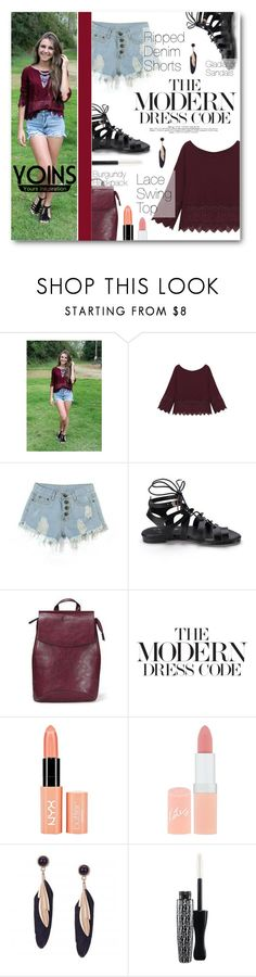 """""""The Modern Dress Code"""" by tasnime-ben ❤ liked on Polyvore featuring NYX, Rimmel, MAC Cosmetics, modern, yoins and yoinscollection"""