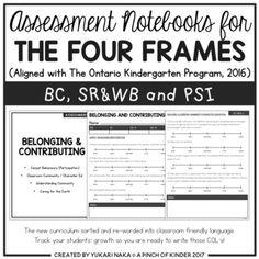 Assessment Notebooks for The Four Frames (The Ontario Kindergarten Program) Kindergarten Year Plan, Kindergarten Report Cards, Kindergarten Literacy Stations, Kindergarten Assessment, Math Assessment, Kindergarten Curriculum, Anecdotal Notes, How To Get Better, Day Plan
