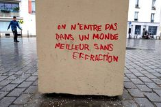 Find images and videos about quote on We Heart It - the app to get lost in what you love. Street Art Quotes, Graffiti Quotes, Pretty Words, Beautiful Words, French Quotes, Thing 1, Some Quotes, Learn French, Some Words