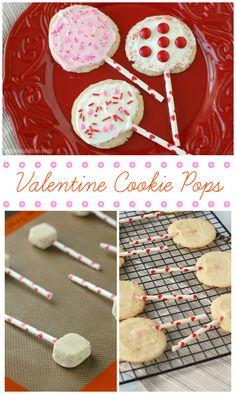 Easy Valentine Cookies | www.wineandglue.com