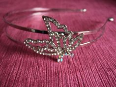 Butterfly Crystal Silver double Headband Alice by GlamorousLadies